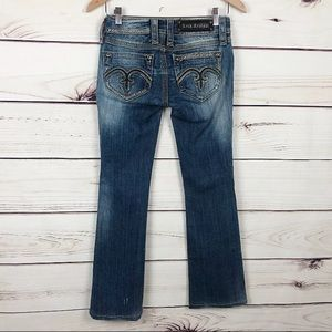 Rock Revival Bling Alanis Boot Cut Jeans Size 26